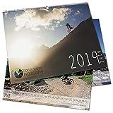 Mountain-Bike Wand-Kalender 2019 DIN A2 - Panorama Format - Foto-Kalender - Großformat 420 x 594 mm - EIN Muß und Genuß für alle MTB-Biker
