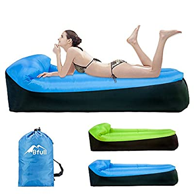 Inflatable Lounger,Bfull Latest Extended Version 200*75*55cm Waterproof Air Sofa with Carry Bag,Inflatable Couch Air loungers for Indoor/Outdoor Camping,Beach,Swimming Pools,Park,Garden,Travelling etc - inexpensive UK light store.