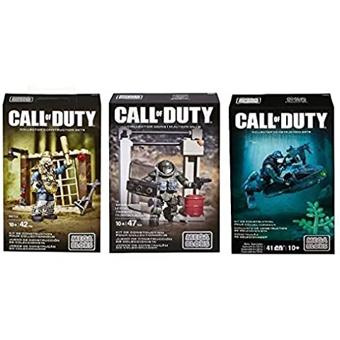 Call of Duty Mega Bloks Collector Construction Sets Series Holiday or Birthday Gift Set Bundle of 3: Brutus, Juggernaut & Seal Specialist by Spider-Man