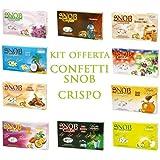 CONFETTI CRISPO | Offerta per Confettate o Bomboniere | SNOB ALLA MANDORLA 50+ GUSTI A SCELTA (4 Kg ISOTERMICA)