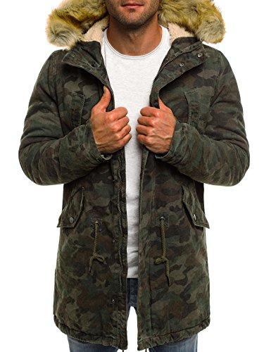 OZONEE Herren Winterjacke Parka Jacke Kapuzenjacke Wärmejacke Wintermantel Coat AK-Club YL001 DUNKELCAMO XL