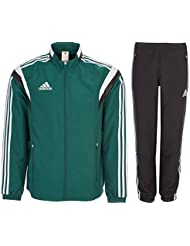 c833db72f641 adidas Homme Survêtements Tracksuit Woven Soccer RefSuit Track Top Pants  Training Black Green G90430