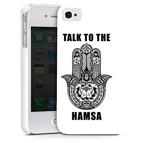 Apple iPhone X Silikon Hülle Case Schutzhülle Glücksbringer Hand Statement Premium Case glänzend