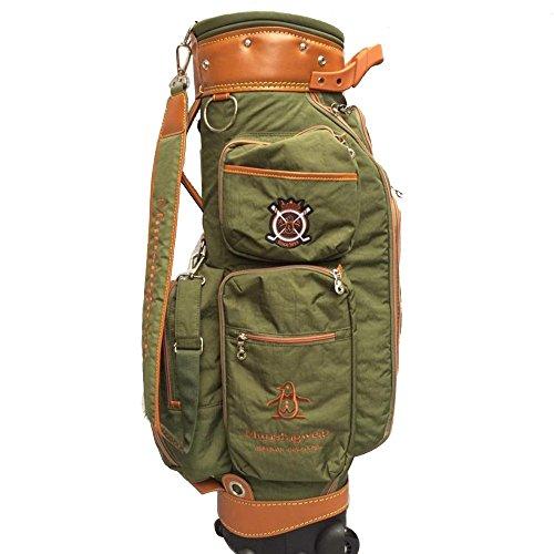 SP Golftasche Golf Bag Golf Cart Tasche mit Rädern Golf Club Taschen-Travel Ball Bag-Mens Damen-Super Leichtgewicht 4kg-Fine Cloth-Grün/Dunkelblau/Rot (Farbe : Grün) (Räder Für Golf Carts)