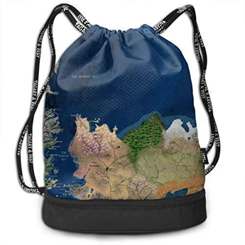 Sporttaschen, Rucksäcke,Earth World Map Art Drawstring Sack Traveling School Shoulder Backpack Large Capacity Beam Bag, Home Travel Storage Use Gift for Men & Women, Girls Boys -