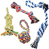 Dog Chew Toys Teething toy Dog Rope Toys Puppy Cotton Pecute Durable for Small and Medium Dogs - 4 Pack Gift Set