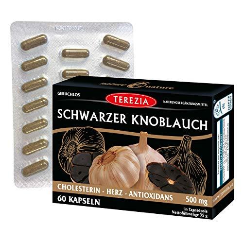 TEREZIA Schwarzer Knoblauch 100% Natürlich ohne chemische Zusatzstoffe   hochdosiert...
