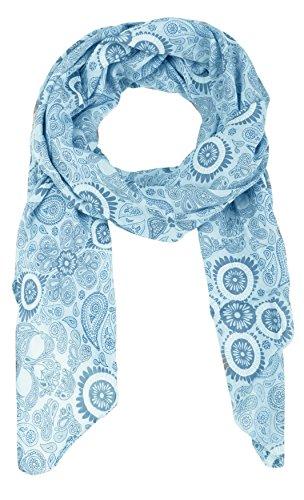 Seiden-Tuch Damen Paisley Print - Made in Italy - Eleganter Sommer-Schal für Frauen - Hochwertiges Seidentuch / Seidenschal - Halstuch und Chiffon-Stola Dezent Stilvoller Print von Zwillingsherz hbl