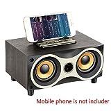 Bluetooth 2.1 Música de Madera de la Vendimia Jugador del Altavoz inalámbrico portátil Recargable de la Caja acústica de Radio FM