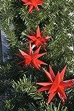 3D LED 9 Sterne Sternenkette Lichterkette Weihnachtsstern Außenstern wetterfest für außen und innen 4m Kabel wetterfest von Dekowelt (Rot)