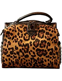 E Scarpe Amazon it Borsa Borse Leopardata w0qIPqH