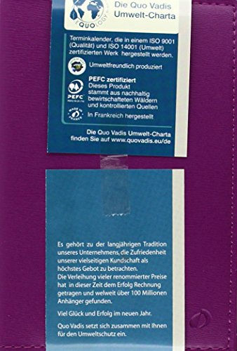 Geschäftbus Taschen-Terminkalender Prestige 2018 Soho purpur/violett: Agenda Planing: 1 Woche auf 2 Seiten. 13 Monate: Dezember bis Dezember. Von 7.00 Uhr bis 20.00 Uhr. Mit Adressenverzeichnis (Mw Tasche)