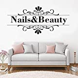 supmsds Nagel Schönheit Zitat Wandaufkleber Friseur Nail Art Design Maniküre Salon Wandtattoo Vinyl Durable Removable Home Decor 127x57 cm
