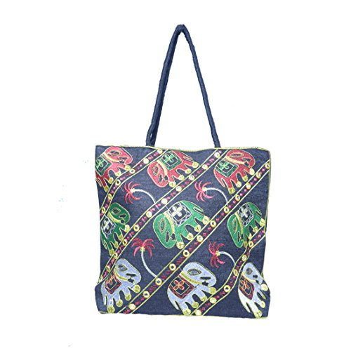 Ruff Indian Traditional Antique Handwork Hand Embroidered Shopping Bag Shoulder Bag Hobo Bag Sling Bag Purse Multicolour Handmade bag/clutch hastkala Ethnic Womeniya Handbag  available at amazon for Rs.249