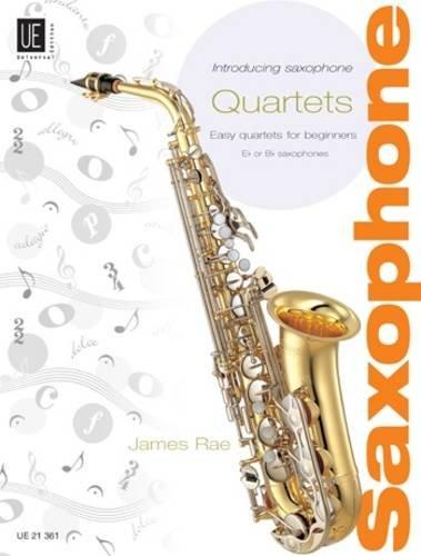 Introducing Saxophone - Quartets: Easy quartets for beginners. für Saxophon-Quartett SAT variabler Stimmensatz (6 Stimmen SAT). Partitur und Stimmen.