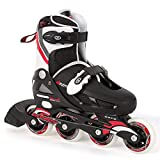 Osprey Boys Inline Skates - Black/White/Red, Size 12-1