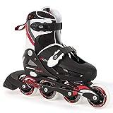 Osprey Boys Inline Skates - Black/White/Red, Size 1-4