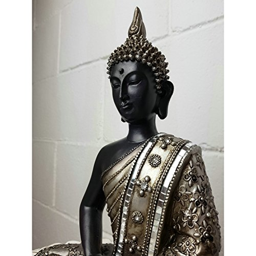... dcasa - Figura buda de suerte sentado resina 30 cm decoracion ... a976e1ea0be