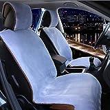 HEIFEN Cuscino per Auto Cuscino per Auto Cuscino per Peluche Artificiale Inverno Caldo coprivaso in Lana Artificiale 2 Pezzi