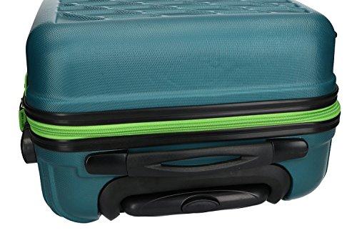 51d18dQ2K8L - Maleta rígida PIERRE CARDIN petróleo mini equipaje de mano ryanair VS187