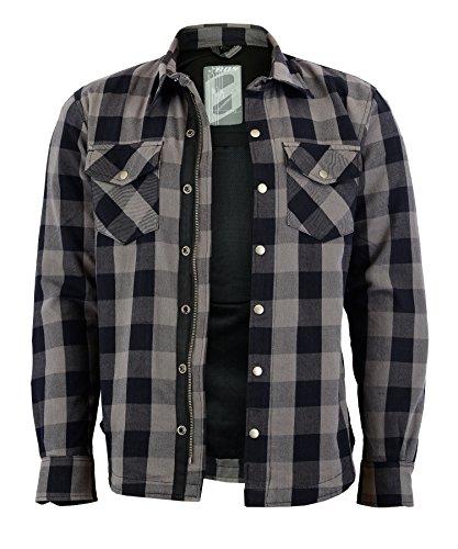 Lumberjack Jacken-Hemd, Rot-Schwarz Kariert, (L, ROT)