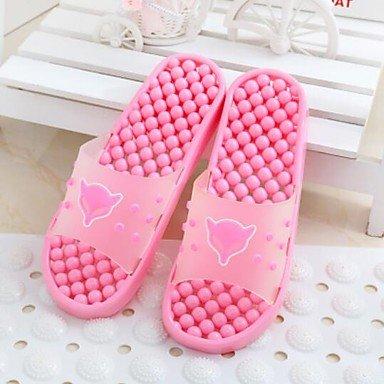 zhENfu donna pantofole & amp; flip-flops Estate Slingback Casual in gomma tacco piatto Ruby