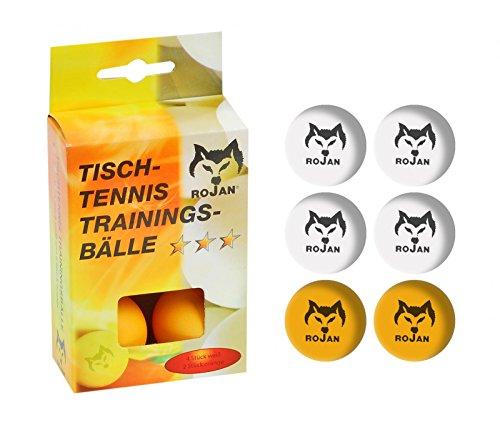 Ping-pong-bälle Farbig (Rojan Tischtennisbälle 3 Sterne 6 Stk.)