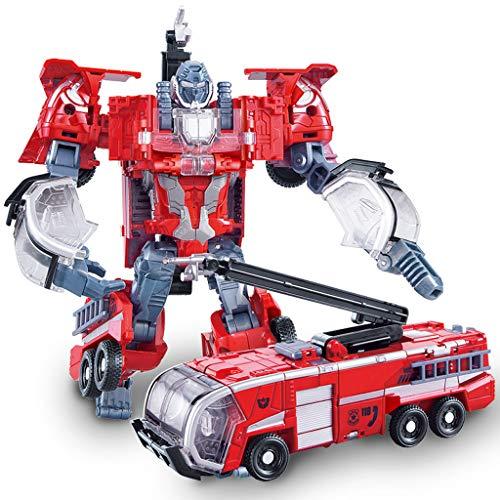 Siyushop Heroes Rescue Bots, Modello Robot 5 in 1, Motocicletta, Camion dei Pompieri, Gru Grande, Escavatore, Ambulanza, Modello di Robot da Combattimento, Giocattolo per deformazione per Bambini