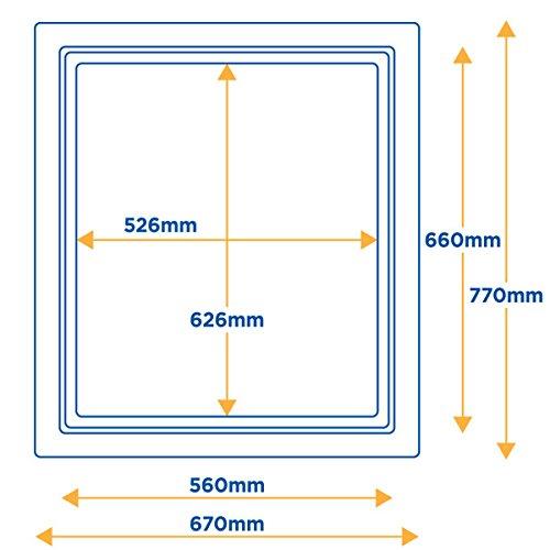 Falltür / Klapptür für Dachboden 025-PU, isolierte Klappe, Weiß