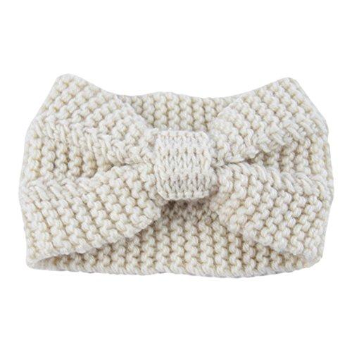 Wenyujh Femme Bandeau de Cheveux en Tricot Ruban Crochet Chaud Accessoires Headband Automne Hiver