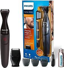 Idea Regalo - Philips MG1100/16 Serie 1000 Rifinitore di Precisione per Barba, Baffi e Basette