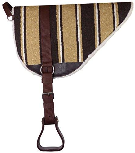 Thor Equine Bareback Pad mit Steigbügeln - Reitkissen - Reitpad - Sattelkissen - Reitkissen braun/beige