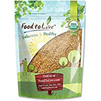 Food to Live Linaza dorada Bio (Eco, Ecológico, Entera, cruda, No GMO, kosher, a granel) 1.8 Kg