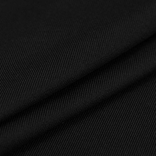 Manadlian-Robes Soirée Courte,Femmes Mini Robe Dos Nu Évider Bodycon Robe de Cocktail Robe de Mariée Noir