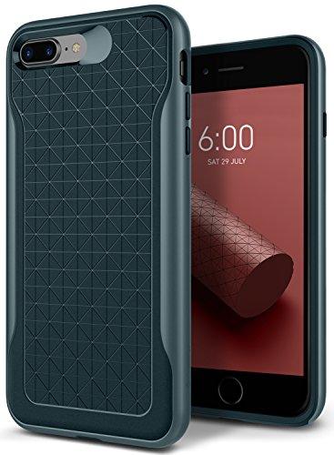 iPhone 8 Plus Case, Caseology [Apex Series] Slim Protective Dual Layer Textured Cover Secure Grip Geometric Design [Burgundy] for Apple iPhone 8 Plus (2017) / 7 Plus (2016) Verde Acqua - Aqua Green