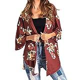 ZARLLE Mujeres De Encaje Floral Open Cape Casual Coat Loose Cárdigan Kimono de Gasa Floral de Mujer Blusa de Primavera Beach Cover up Ropa de Verano