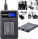 TOP-MAX® EN-EL19 Battery + USB Charger for Nikon Coolpix S32 S100 S2500 S2550 S2600 S2700 S2750 S3100 S3200 S3300 S3400 S3500 S3600 S4100 S4150 S4200 S4300 S4400 S5200 S6400 S6500 S6600 S6700 S6800 S6900 S7000