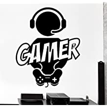 ELTON Boy Game Decal Sticker Wall Vinyl Art Design Gamer Cool Funny Game Room