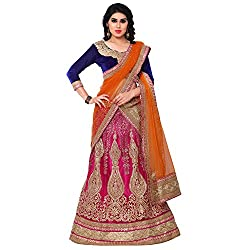 Naaidaakho Pink And Orange Embroidered Lehenga Choli