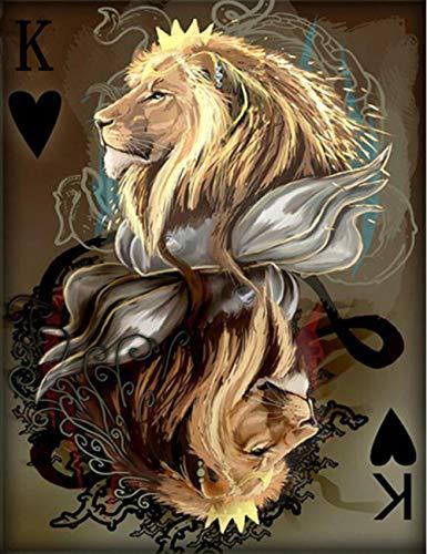 Diamant Mosaïque lion animal poker Peinture Au Diamant Ensemble De Passe-temps et Artisanat Salon Décor BRICOLAGE Modèles Strass