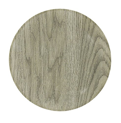 TheKitchenette LOT 4 Assiettes Plates 25CM Faience Wood