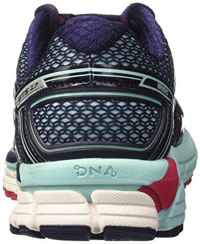 Brooks Adrenaline GTS 17, Scarpe da Ginnastica Donna Blu (Limpet Shell/Evening Blue/Virtual Pink)