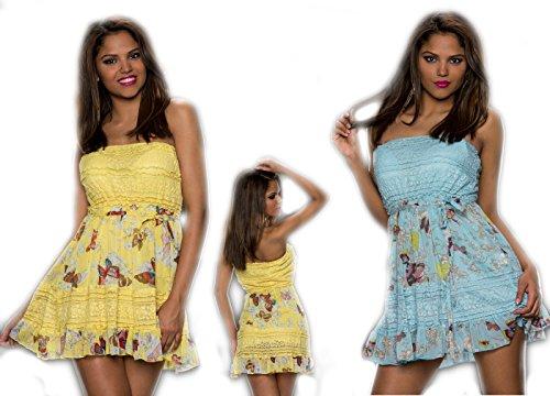 IL BAZAR Damen Kleid Himmelblau