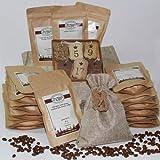 Kaffee-Adventskalender | Weihnachtskalender mit 24 sortenreinen und hochwertigen Kaffees aus der ganzen Welt | Der Kaffeekalender zur Adventszeit Mahlgrad ganze Bohnen, Gewicht Röstkaffee 36g
