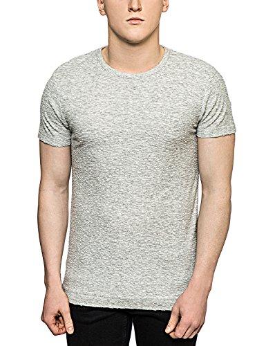 Bellfield Herren T-Shirt - Kurzarm - Baumwolle - Grau Grau