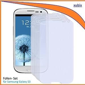 4x xubix Displayschutzfolie Samsung Galaxy S3 Schutzfolie i9300 Folie