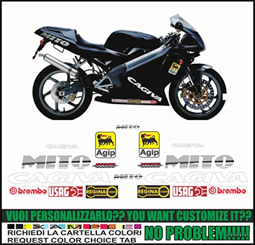 Emanuel & Co Kit adesivi decal stikers cagiva mito ev 1999-2003 (ability to customize the colors)