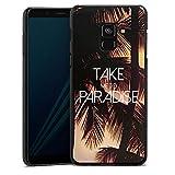DeinDesign Hülle kompatibel mit Samsung Galaxy A8 Duos 2018 Handyhülle Case Palmen Urlaub Travel