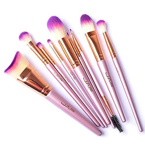 JAF 9pcs Hypoallergen Unscented Rouge Lidschatten Make up Pinsel Set Honestyi JAF 9 Make-up Pinsel Set