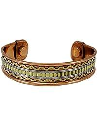 b39029addc05 Banithani unisex de cobre puro pulsera brazalete de moda indio ajustable